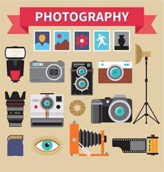 Photography - Icons Set - Creative Design vector image