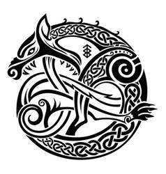Scandinavian viking design vector