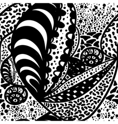 Seamless zentangle doodle vector image