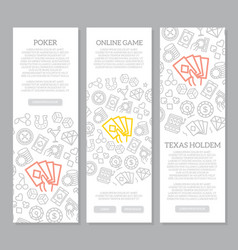 set of gambling and casino vertical banners vector image
