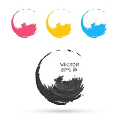 Set of hand color circles vector