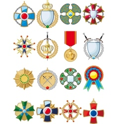 set various medals vector image