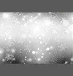 silver snowflakes background vector image