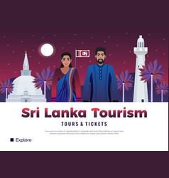 sri lanka tourism poster vector image