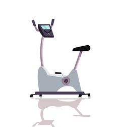 Stationary exercise bike flat vector