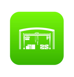 storage and loading icon green vector image