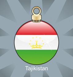 Tajikistan flag on bulb vector image vector image