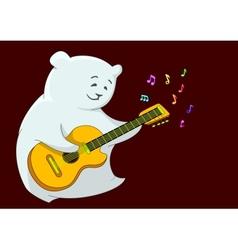 Teddy bear with guitar vector image