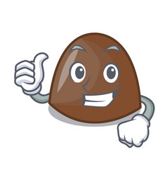 thumbs up chocolate candies character cartoon vector image