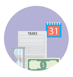 Time for tax pay vector