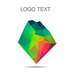 Triangle logo or icon of stone in vector image