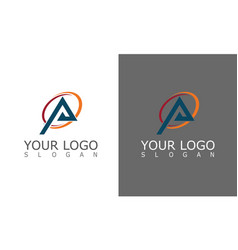 triangle round logo vector image
