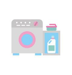 Wash machine with detergent bottle vector