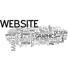 web design keep it simple text word cloud concept vector image vector image