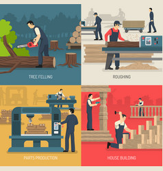 wood works design concept vector image