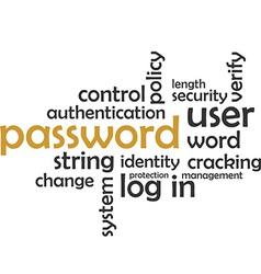 Word cloud password vector