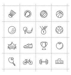 black sport set vector image vector image