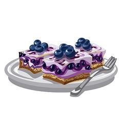 blueberry creamy cakes vector image
