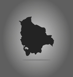 map bolivia vector image
