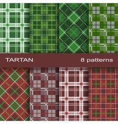 Set of tartan pattern vector image vector image