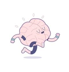 Train your brain running vector image