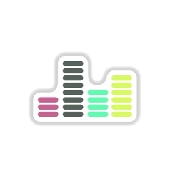 color label design collection of sound and audio vector image vector image