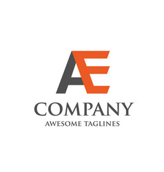 creative letter ae logo vector image vector image