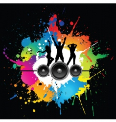 grunge party vector image vector image
