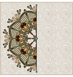 ornamental circle template with floral background vector image