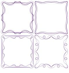 set of four beautiful framework vector image vector image
