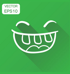 simple smile with tongue icon business concept vector image