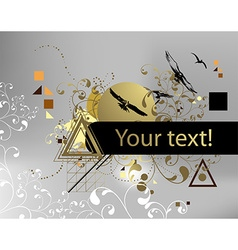 Abstract Background with Conflicting Elements vector image