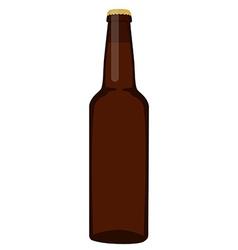 Brown beer bottle vector image vector image