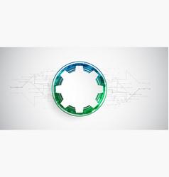 gear wheel digital technology concept vector image vector image