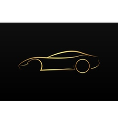 Golden car logo vector image vector image