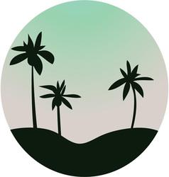 Island Scene vector image