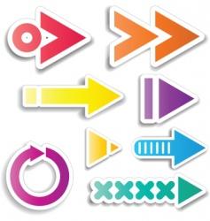 arrow designs vector image