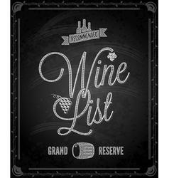 chalkboard wine vector image vector image