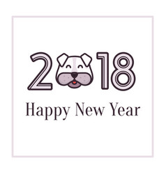 happy new year 2018 greeting card banner for vector image vector image