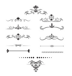 page dividers set decorative elements vector image