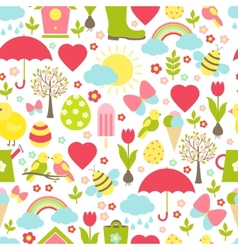 Pretty delicate seamless spring pattern vector image