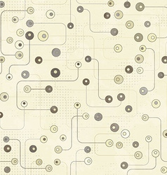 vintage electronic seamless pattern with grunge vector image vector image