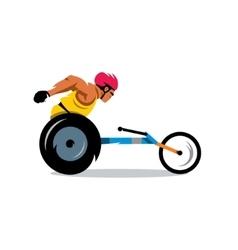 Wheelchair Racing Cartoon vector image vector image