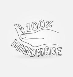 100 handmade icon percent hand made vector image