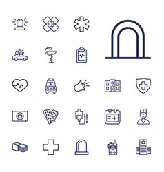 22 emergency icons vector