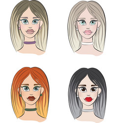 4 types of womens appearance vector