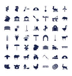 49 farm icons vector