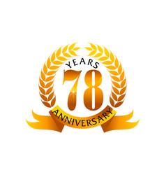 78 years ribbon anniversary vector