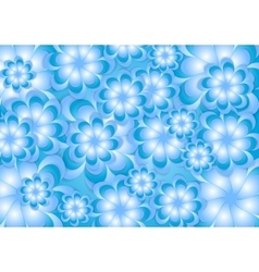 Abstract blue summer flowers background vector