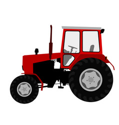 Agricultural tractor farm vehicle vector